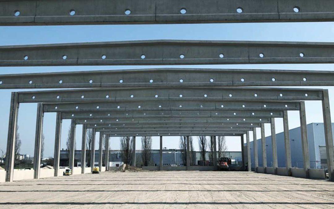 Neubau Lagerhalle B360 mit Verbindungsbrücke für die Fa. PCI