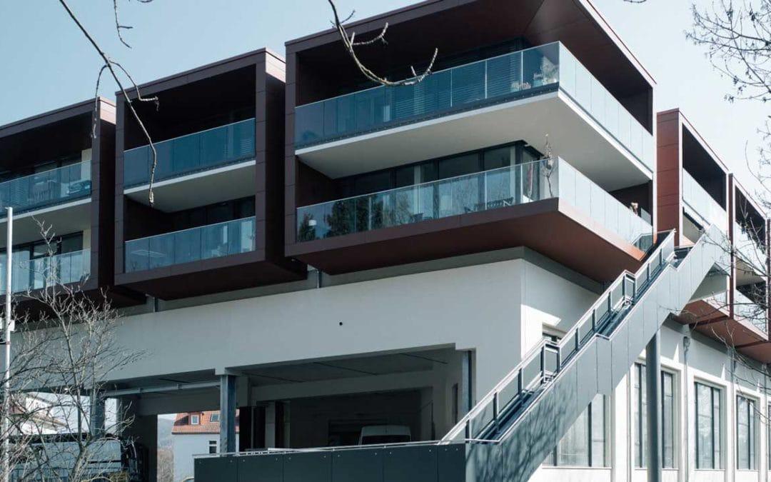 Umbau und Erweiterung des bestehenden Postverteilerzentrum durch Überbauung für 17 Wohnungen
